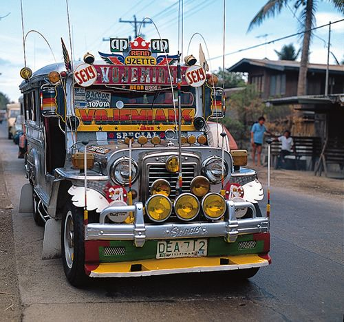 'Jeepneys' or 'PUJs' (a very common mode of commute transportation in the Philippines)
