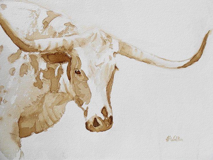 Longhorn Painting  - Longhorn Fine Art Print