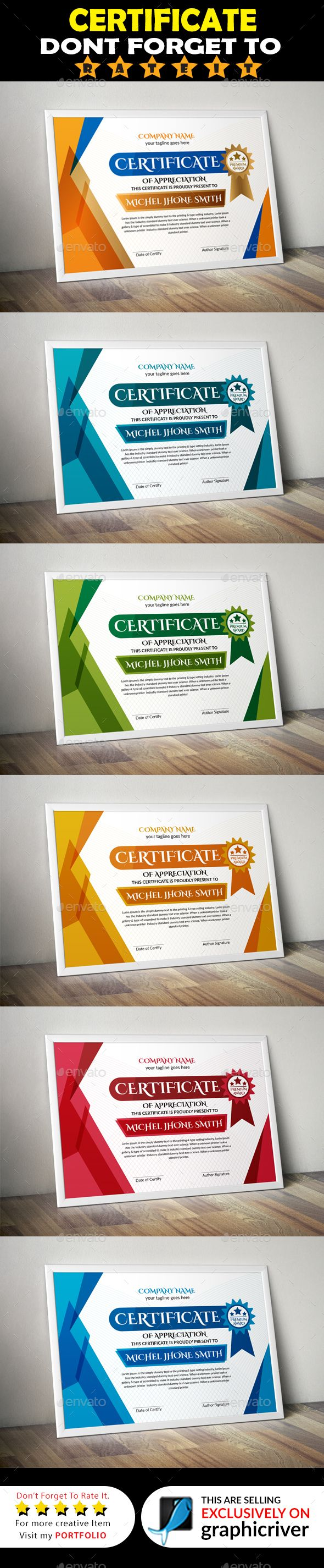 #Certificate - Certificates #Stationery Download here: https://graphicriver.net/item/certificate/20288499?ref=alena994