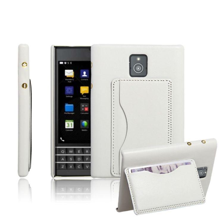 Coque BlackBerry Passport style cuir Retro - Blanc