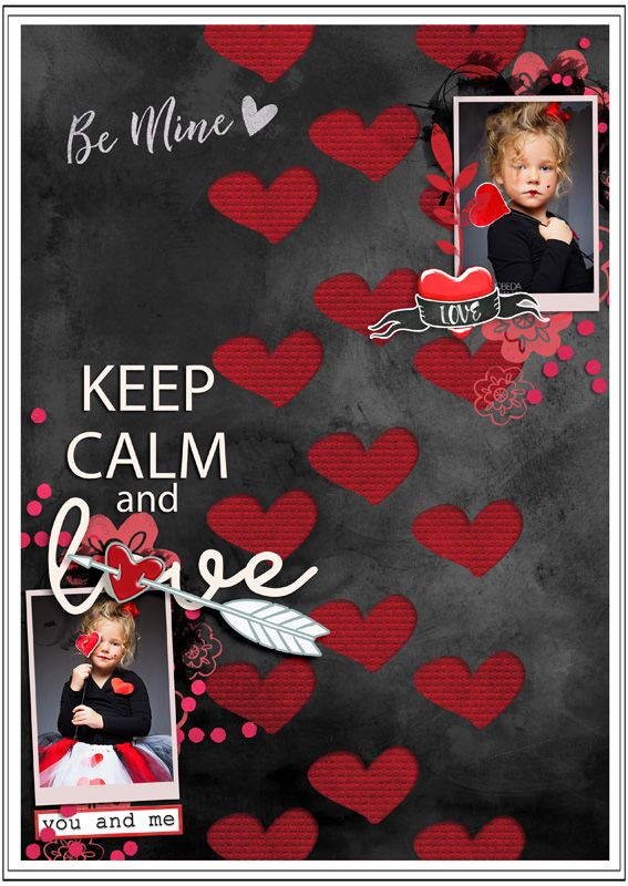 """Templates FREEBIE """"Playing with Hearts"""" by Ga_L https://scrapdegal.wordpress.com/2017/02/08/templates-playing-with-hearts/ kit """"Be in Love"""" by Et designs  http://www.thedigichick.com/shop/Be-in-Love-Collection.html Photo by Vika Pobeda -Model Veronika Savicheva- Fashionkids"""