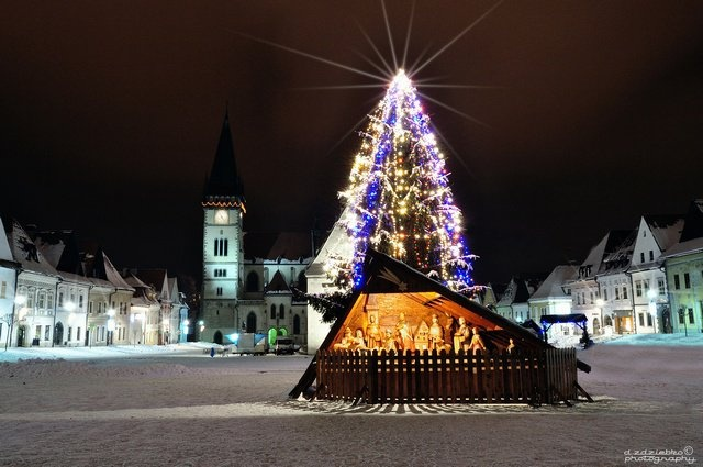 Bardejov, Christmas atmosphere on the square.