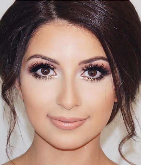 Wedding Makeup Ideas for Brides - Smoky Rosey Look - Romantic make up ideas for the wedding - Natural and Airbrush techniques that look great with blue, green and brown eyes - rusti evening glow looks - http://thegoddess.com/wedding-makeup-for-brides