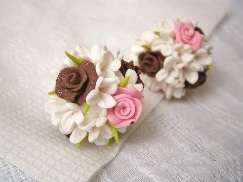 ▶ Цветочные шары из полимерной глины / Flowers balls of polymer clay - YouTube