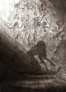 """""""The Yellow Wallpaper"""" by Michael Manomivibul inspired by The Yellow Wallpaper written by Charlotte Perkins Gilman.  One of my absolute favorite stories."""