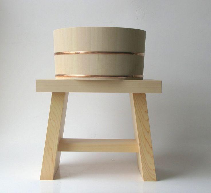 Japanese bath stool & pourer (Mr. Kitly, Collingwood)