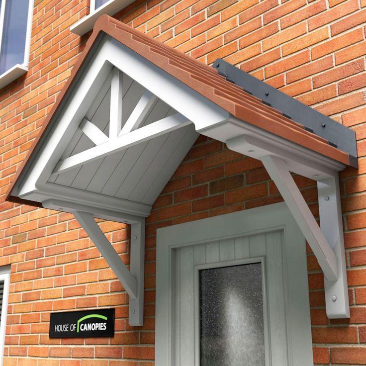 Langdale Door Canopy with Terracotta coloured Tile effect  Slate Grey£478.80 & 41 best Door canopy images on Pinterest | Door canopy Canopies and ...