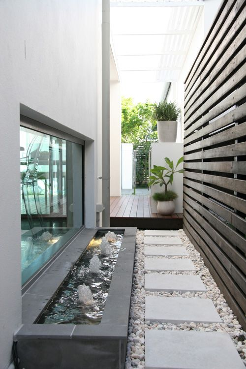 17 best ideas about water features on pinterest garden for Courtyard landscaping brisbane