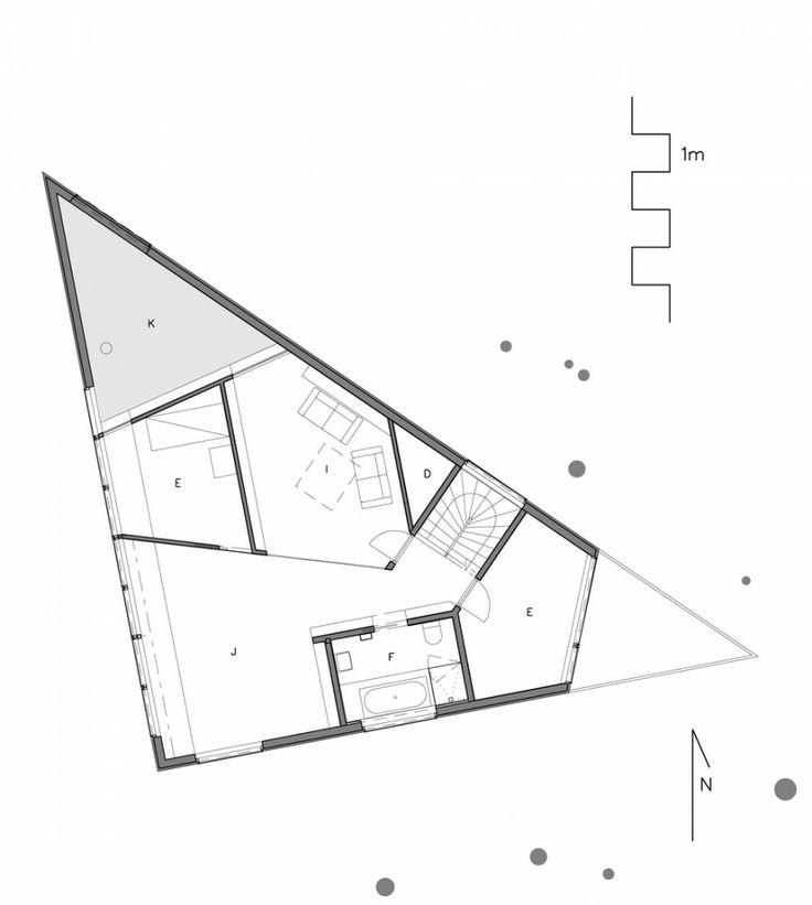 Casa Triángulo / JVA trianguo-planta-1 – Plataforma Arquitectura