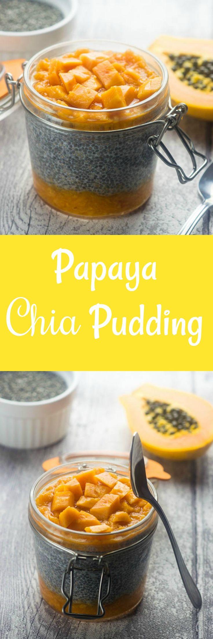 Papaya (paw paw) chia pudding