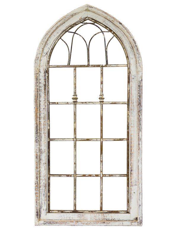 Wooden Window Tubular Wall Decor Arched Wall Decor Window Wall Decor Faux Window