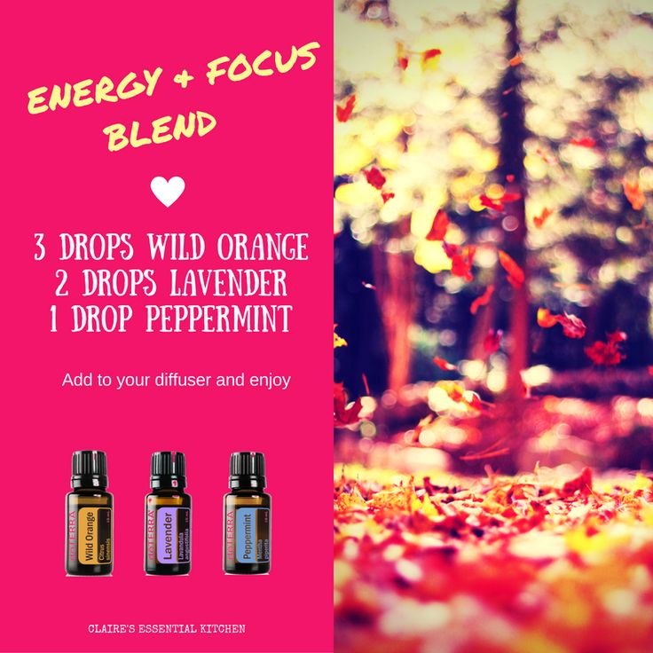 This blend of Orange, Lavender and Peppermint will have you feeling energised and focused.