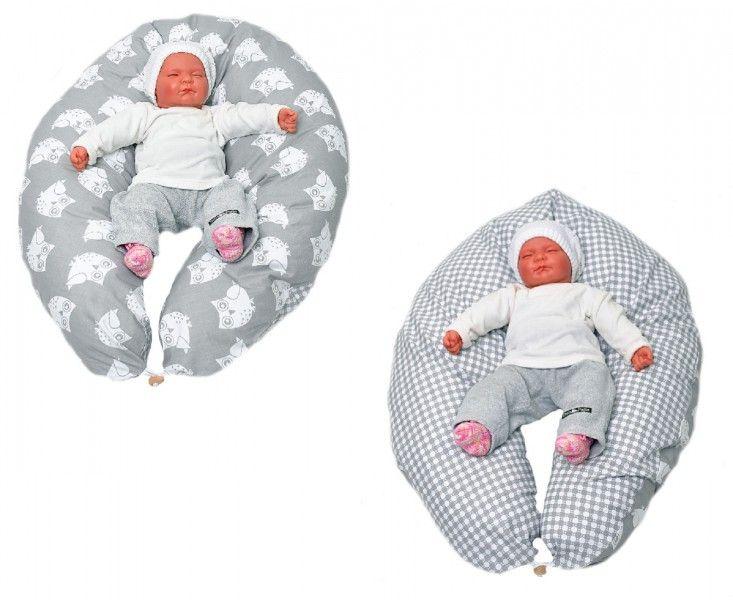 Stillkissen grau mit Eulen - Stillkissen in verschiedenen Farben von HOBEA-Germany  #Stillkissen #Stillen #nursingpillow #breastfeeding #breastfeedingpillow #nursingproducts #HOBEA