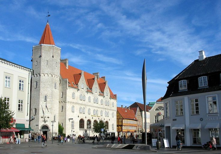 Downtown Aalborg, The Danish Bank (the castle)