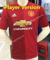 2016-17 Manchester United Home Red Thailand Soccer Jersey Player Version