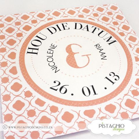 Retro Orange Save The Date