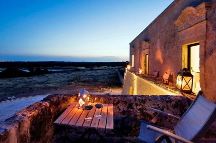 Get cozy and romantic at dusk admiring the masseria views #Puglia