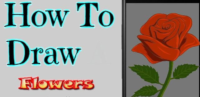 How To Draw Flowers App Flower Drawing App Flowers