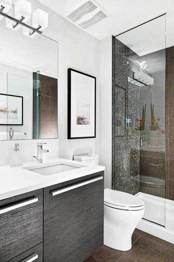 37 Cool Small Bathroom Designs Ideas For Your Home Page 31 Of 37 Lasdiest Com Daily Women Blog In 2020 Modern Small Bathrooms Bathroom Design Small Modern Small Bathroom Remodel