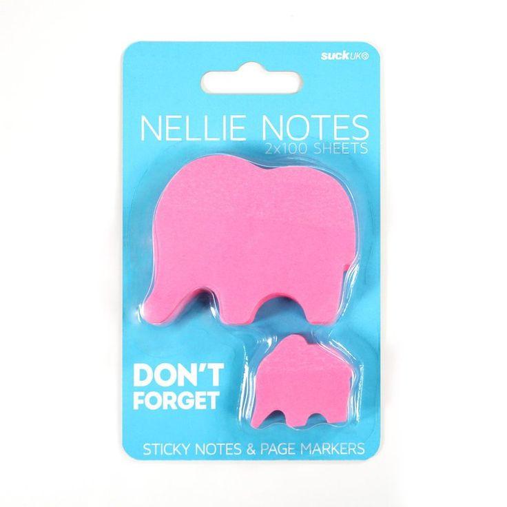 Elephant Sticky Notes   Stocking Fillers   Oliver Bonas