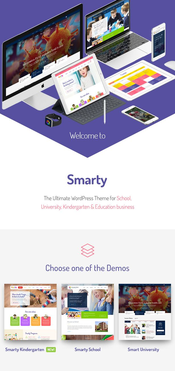 Smarty  Kindergarten Elementary School Highschool WordPress theme