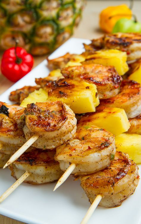 Grilled Jerk Shrimp and Pineapple Skewers Recipe