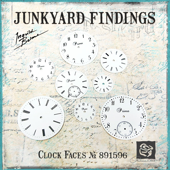 Junkyard Findings by Ingvild Bolme - Prima Clock Faces  Metal embellishments