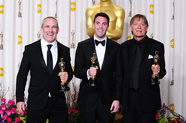 Oscar 2013 BEST SOUND: Les Misrables Andy Nelson, Mark Paterson and Simon Hayes