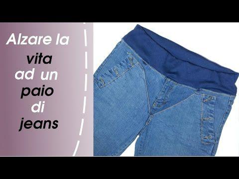 Come allargare il girovita dei jeans - YouTube