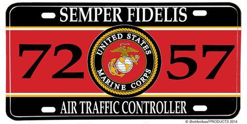 US Marines MOS 7257 Air Traffic Controller License plate