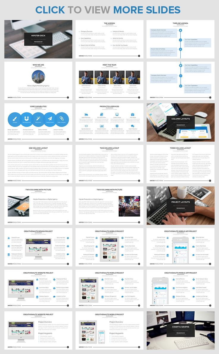 50% OFF Hipster PowerPoint Template by Creativenauts on @creativemarket