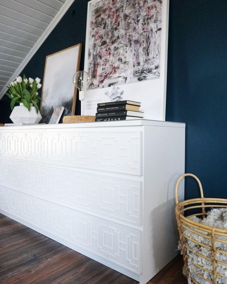 Glamourus ikea hack with furniture decor 'Livia' at Malm from IKEA   Picture: Alexandra Vedin #furnituredecor#modern#inspo#bedroom#ikea#ikeahack