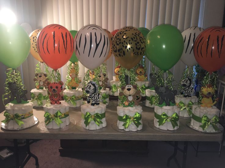 Safari Centerpieces Jungle Baby Shower Theme Safari