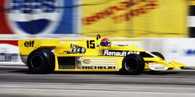 Jean-Pierre Jabouille in the Renault RS01 at Long Beach 1978