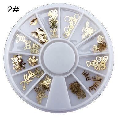 2016  Hot Products  Nail Art Tips Crystal Glitter Rhinestone 3D Nail Art Decoration+Wheel