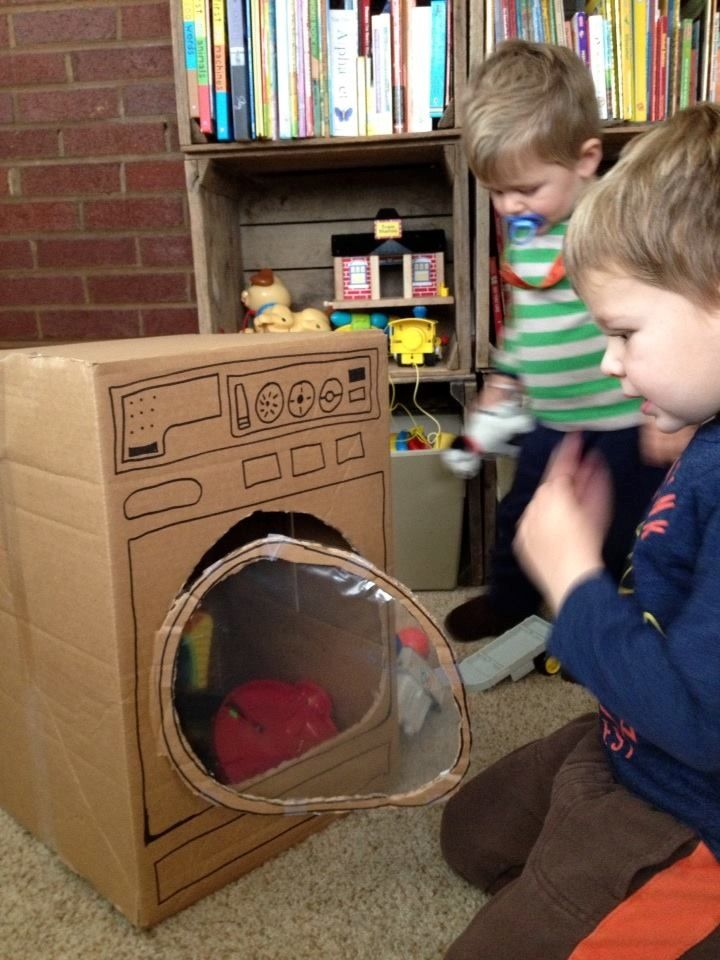 Have you ever tried washing your clothes in a cardboard washing machine? :)
