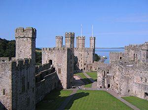 Caernarfon Castle, north-west Wales