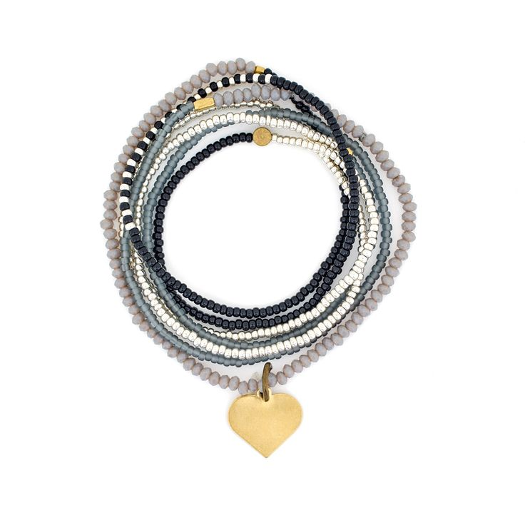 The Makery Heartstring long beaded necklace – MHS17