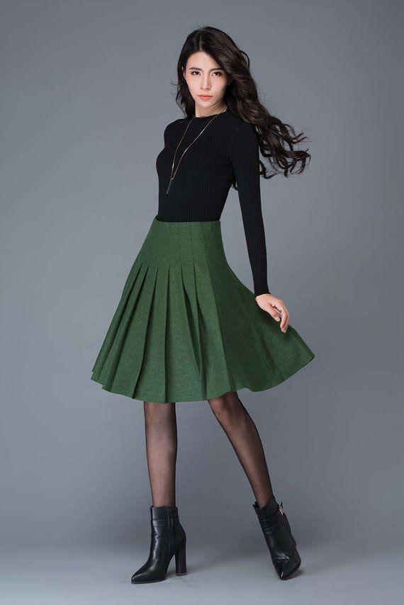 8de017179f Wool pleated skirt