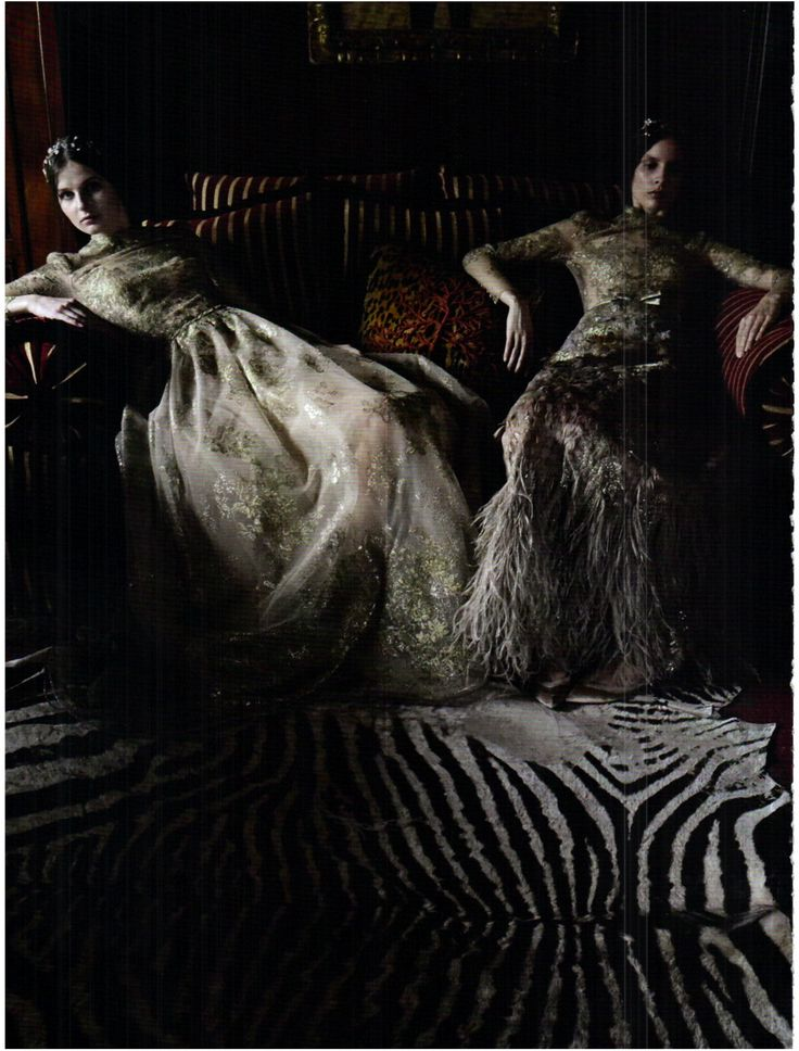 "Vogue Italia September 2011 ""Valentino Haute Couture"" by Deborah Turbeville"