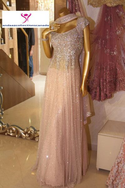 Baby Pink Neeta Lulla  Ramp Anarkali Dress buy it now at andaazcollectionscanada