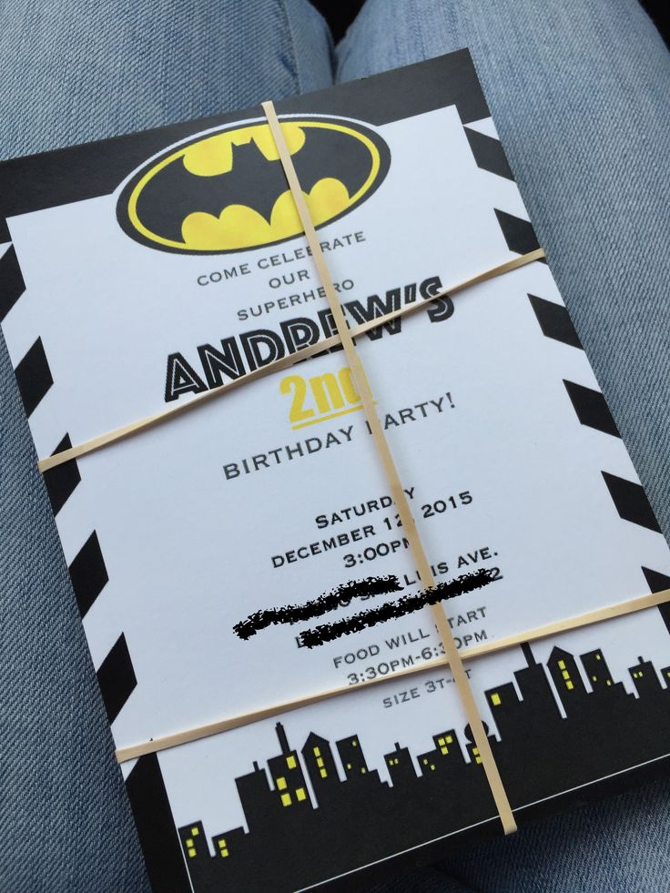 i make batman invitations email me if interested! brendaaalbarran11@gmail.com
