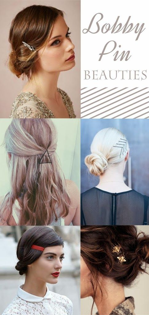 hair ideas, bobby pin hair styles,