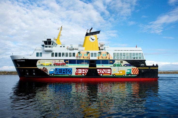 Ærø ferry redesigned by Randi & Katrine #Denmark