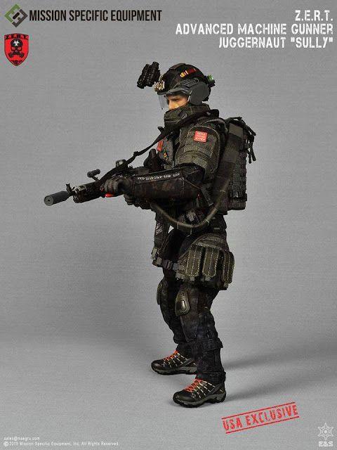"Easy & Simple 1/6th scale Z.E.R.T. Advanced Machine Gunner Juggernaut ""SULLY"" figure"