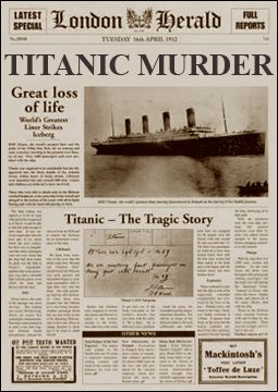 17 Best Images About Titanic Murder Mystery Dinner Party