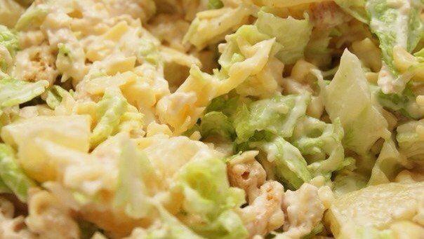 Салат из китайской капусты, курицы и ананаса / Взлом логики