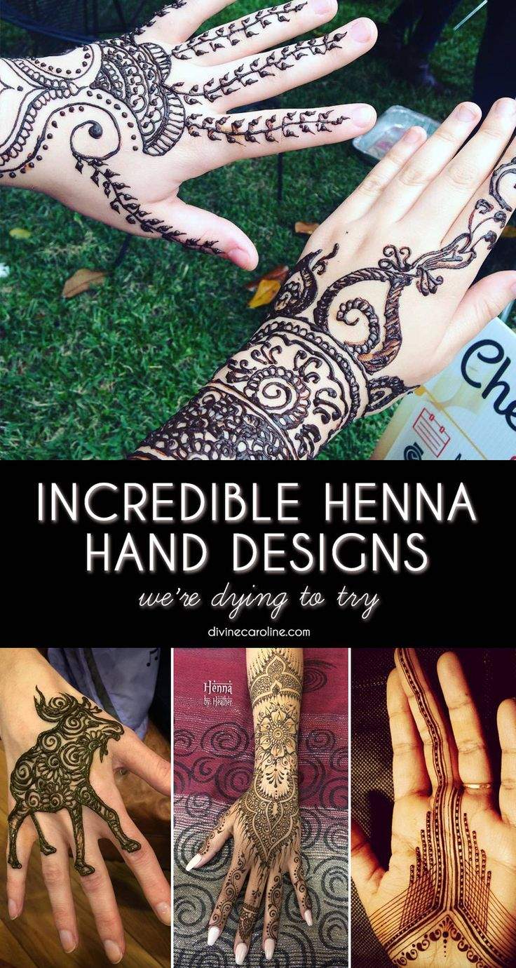 Henna tattoo charleston sc - 28 Henna Designs For Hands We Re Dying To Try Out
