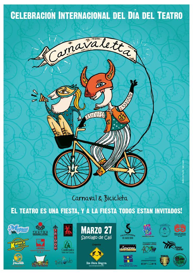 Cartel oficial - Carnavaletta, Fundación  En Obra Negra / 2011