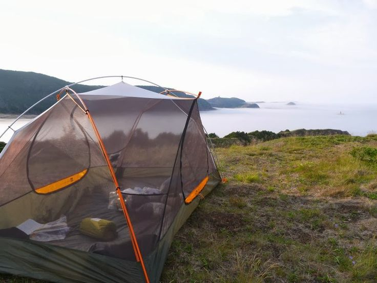 The perfect campsite along Deadman's Path on The East Coast Trail in Newfoundland, Canada.